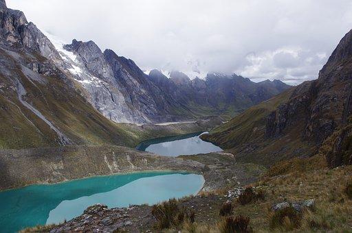 Cordillera, Huayhuash, Lake, Mountain, Adventure, Andes