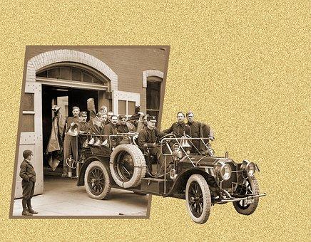 Antique Fire Truck, 1911 Packard Fire Truck