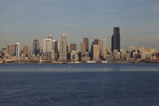 Seattle, Skyline, City, Downtown, America, Architecture