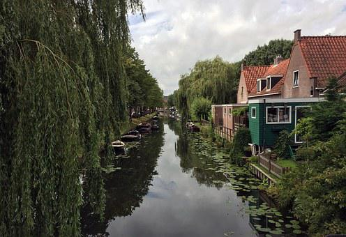 Channel, House, Netherlands, Boats, Channels
