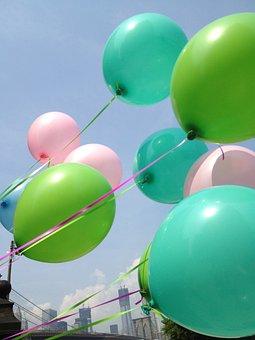 Balloons, Sky, Brooklyn, Brooklyn Bridge, Bridge