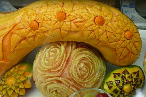 Eat, Carving, Art, Artfully, Pumpkin, Fruit, Vegetables
