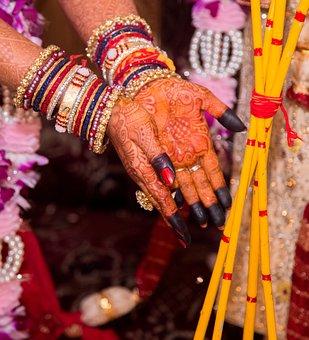 Ceremony, Fire, Female, Bridal, Wedding, Marriage