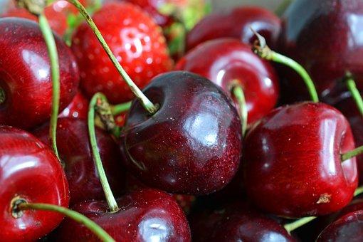 Cherries, Fruit, Fruit Basket, Fruits, Strawberry