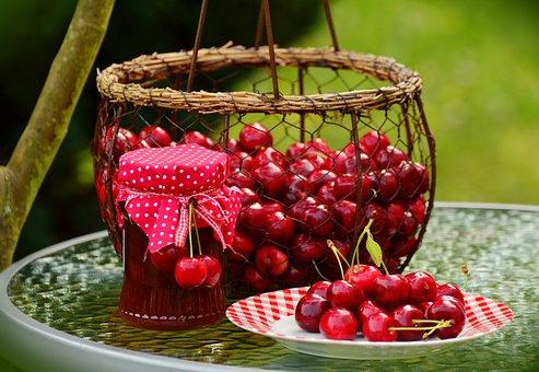 Cherries, Fruits, Sweet Cherry, Cherry Jam