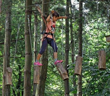Play, Climbing, Child, Girl, Balance, Height