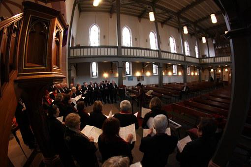 Church Choir, Church, Choir, Architecture, Church Room
