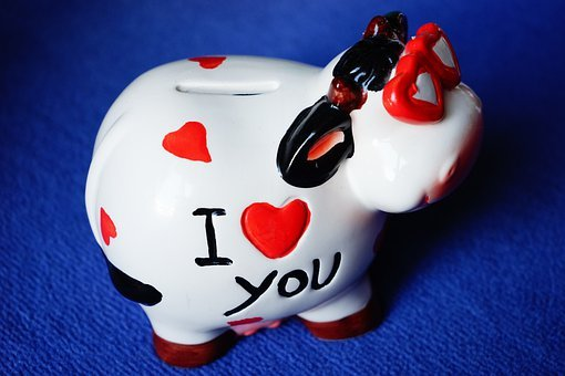 Pig, Lucky Pig, Piggy Bank, Cool, Funny, I Love You