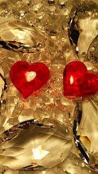 Valentine's Day, Love, Crystal Glass, Heart, Decoration