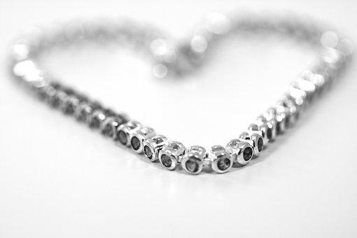 Jewellery, Heart, Necklace, Silver, Diamond