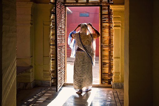 India, Mataji, Travel, Door, Light, Corridor, Vaishnava