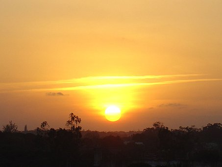 Sun, Sunset, Evening, Night, Nightfall, Dusk, Sunrise