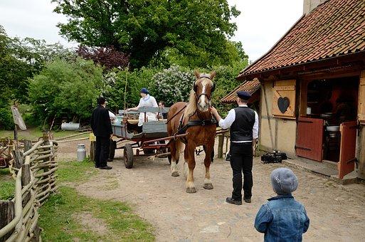 Bauer, Farm, Farming Village, Museum Volksdorf