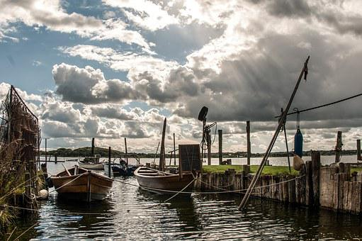 Water, Schley, Fishing, Schleswig, Baltic Sea, Mood