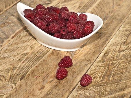 Raspberries, Fruit, Summer, Fruits, Berries, Red