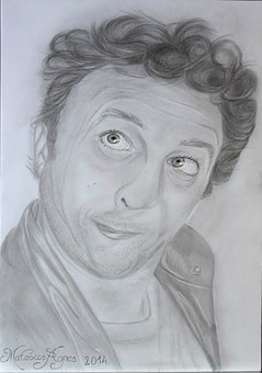 Cartoon, Portrait, Drawing, Graphite, Art, Pencil