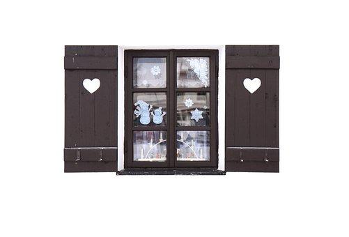 Window, Windows, Glass, Open, Heart, Hearts