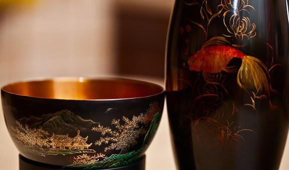 Bowl, The Goblet, Saucer, Painting, Chinese, Laka