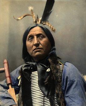 Portrait, Left Hand Bear, Chief, Oglaha Sioux, Indian