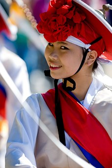 Korean, Woman, Maefchen, Decorated, Tradition, Korea