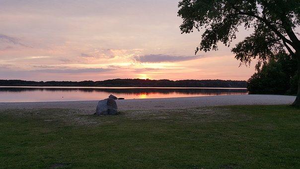 Mecklenburg, Einfeld, Lake, Neumünster, Sunset