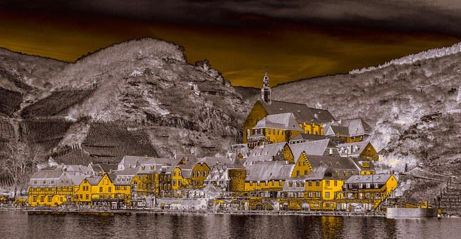 Mosel, Beilstein, Village, Houses, City, River