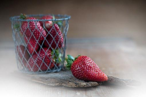 Strawberries, Red, Ripe, Frisch, Natural Product