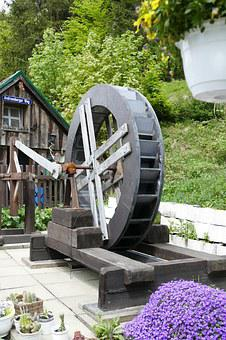 Rehberger Grave House, Waterwheel, Old, Historically