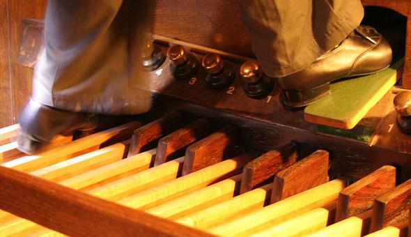 Church Organ, Pedals, Organ, Pedal Board, Pipe Organ