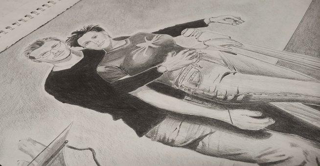 Art, Sketch, Sketching, Drawing, Draw, Notepad, Paper