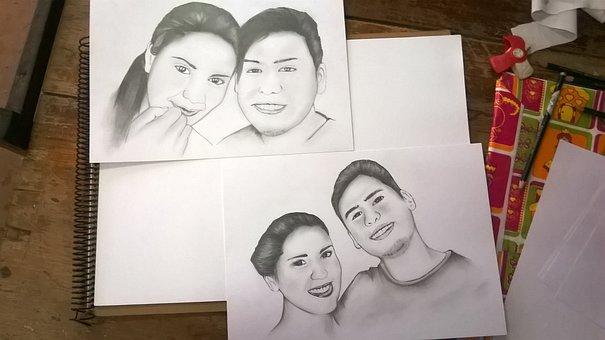 Drawing, Graphite, Illustration, Pencil, Portrait