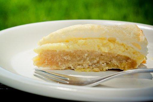 Peruvian, Lemon Cake, Piece Of Cake, Cake, Meringue