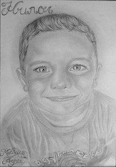 Portrait, Drawing, Graphite, Art, Pencil