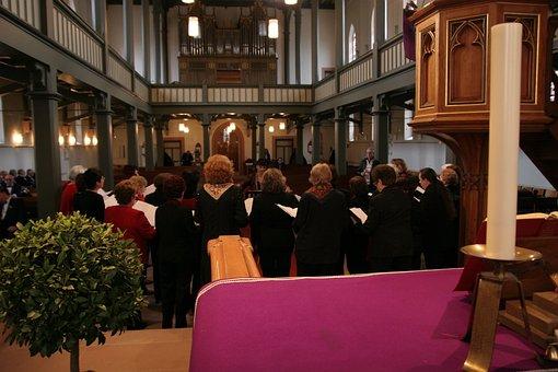 Church, Choir, Human, Singing, Altar, Protestant