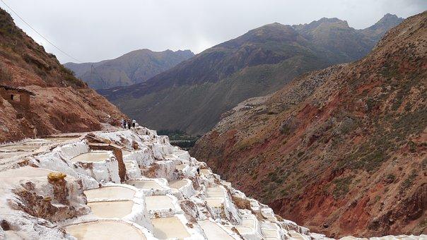 Salt, Sacred Valley, Peruvian, Salinas, White, Mineral