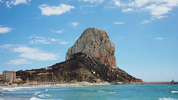 Sea, Calp, Spain, Travel, Vacation, View, Beautiful