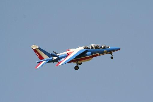 Aircraft, Patrol, Choreography, Smoke, Aerobatics, Sky