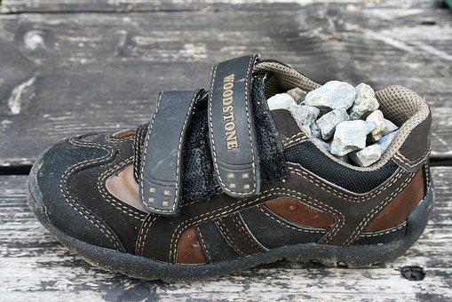 Children Footwear, Shoe, Footwear, Gravel, Stone, Full