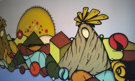 Art, Street, Hazul, Paint, Graphite, Colors, Street Art