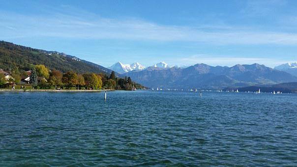 Lake Of Thun, Sunday Afternoon, Sunny