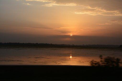 Sunset, Kashmir, Dal Lake, India, Srinagar, Boat, Lake