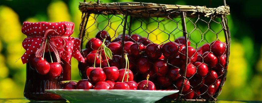Cherries, Cherry Harvest, Fruits, Sweet Cherry, Basket