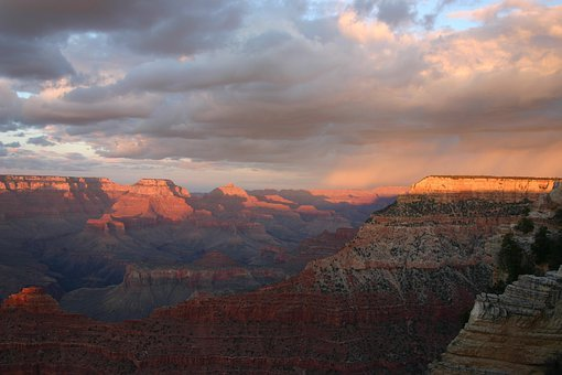 Grand Canyon, Sunset, Park, Landscape, Travel, Arizona