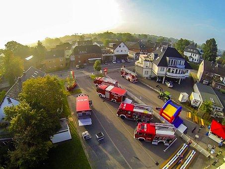 Fire, Roetgen, Vehicles, Use, Civil Protection