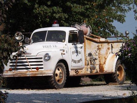 Route 66, Antique Truck, Vintage Auto, Old Fire Engine