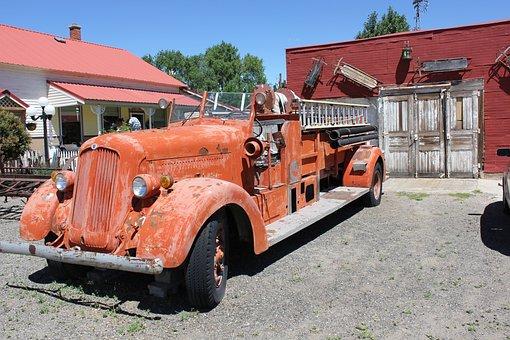 Antique, Fire Engine, Vintage, Fire, Truck, Engine, Old