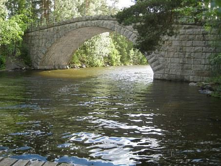 Bridge, Water, Stone Bridge, Afternoon, Flow, Summer
