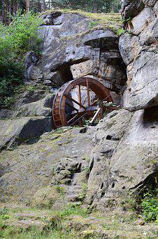 Waterwheel, Historically, Construction, Old, Rock