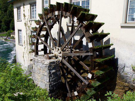 Scoop, Wheel, Waterwheel, Old