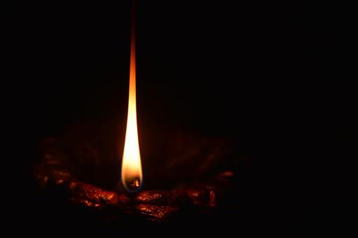 Light, Lamp, Flame, Oil, Wick